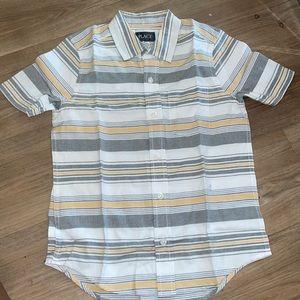 Boys stripped button down shirt